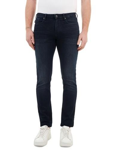 Emporio Armani  Slim Fit Pamuklu J06 Jeans Erkek Kot Pantolon 8N1J06 1D0Iz 0942 Lacivert